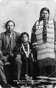 Black Elk, wife, and son