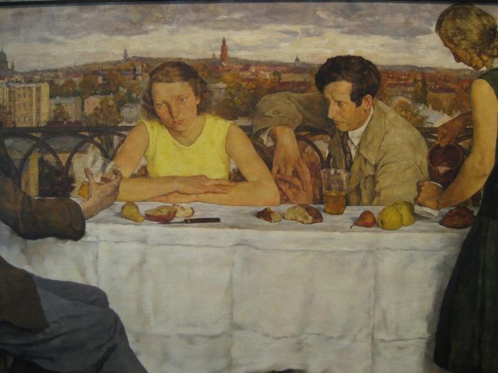 Abend über Potsdam (detail), Lotte Laserstein