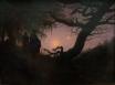 Mann und Frau in Betrachtung des Mondes, Caspar David Friedrich, 1824