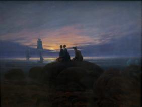 Mondaufgang am Meer, Caspar David Friedrich, 1822
